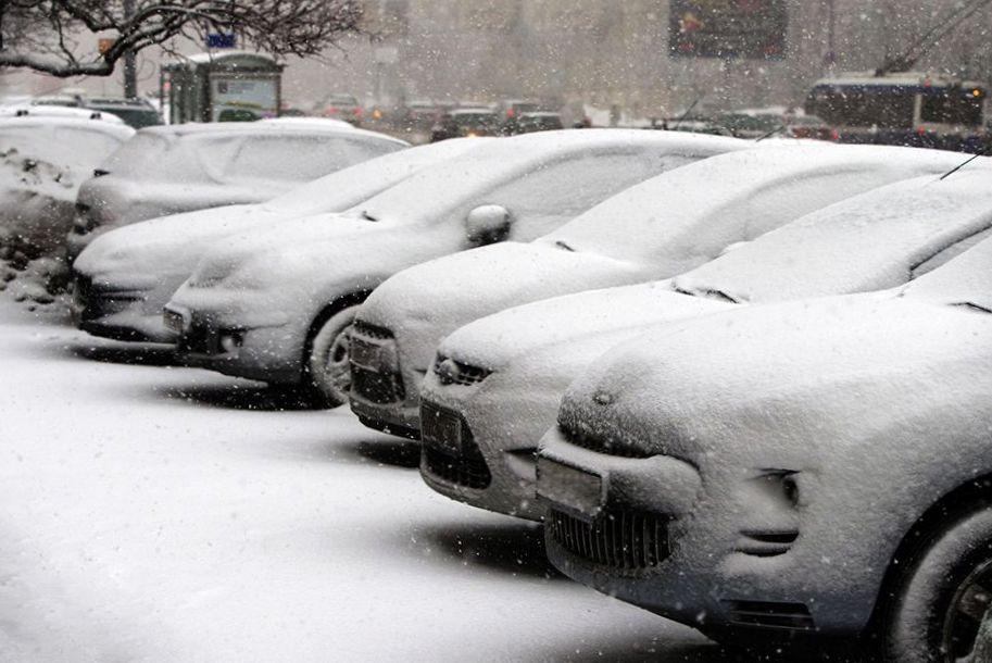 Авто под снегом фото