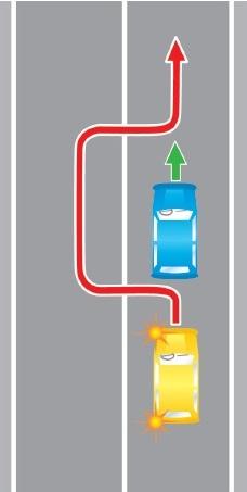 Выезд в нарушение требований предписанных разметкой проезжей части дороги, на полосу, предназначенную для встречного движения.